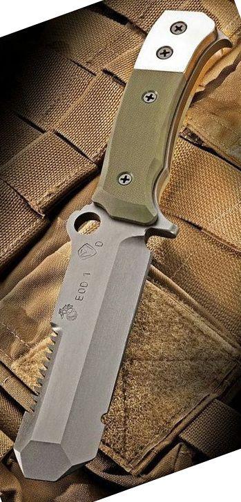 Medford Knife & Tool USMC EOD Fixed Blade Tactical Knife Black G-10 Handles PVD Blade