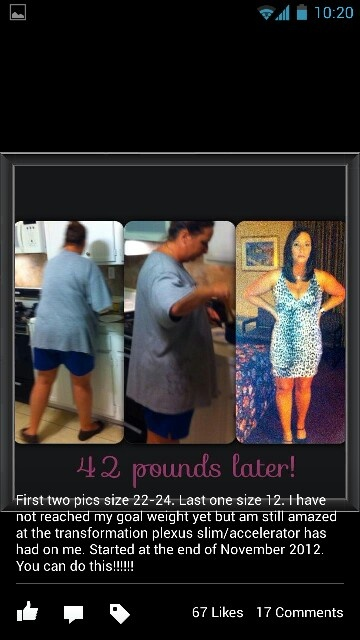 Plexus Slim Results!  Ask me for more information!