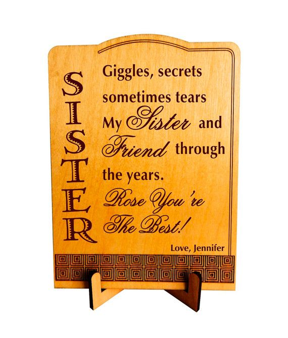 Gift for a Sister Special Sister Gift Sis by Greatwoodengifts