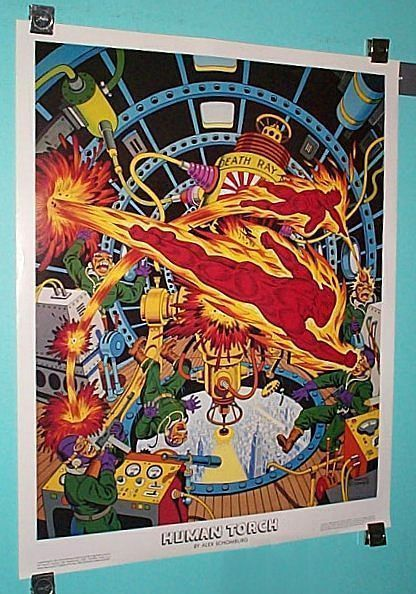 silver rings online Rare 1980  39 s Marvel Mystery Comics 66 1940  39 s Golden Age Human Torch poster  1984  1000  39 s MORE RARE VINTAGE MARVEL  amp  DC COMICS POSTERS AND ART AT SUPERVATOR COM
