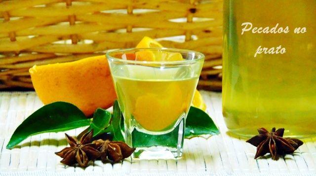 Receitas de pecados no prato: Licor de laranja caseiro