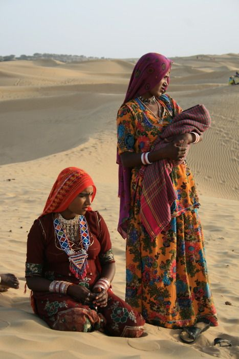 India. Life in the desert.