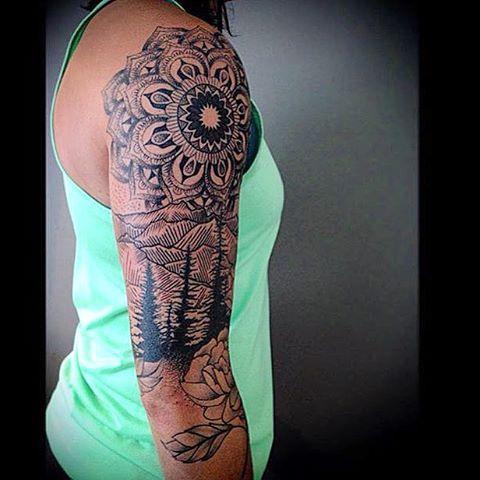Best 20 mountain tattoos ideas on pinterest mountain for Mountain tattoo sleeve