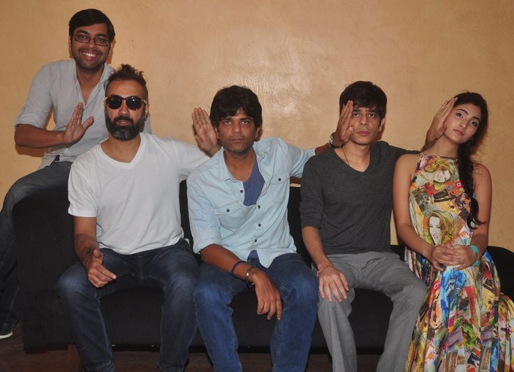 Kanu behl, Ranvir Shorey, Amit Sial, Shashank Arora and Shivani Raghuvanshi at the press meet of Titli