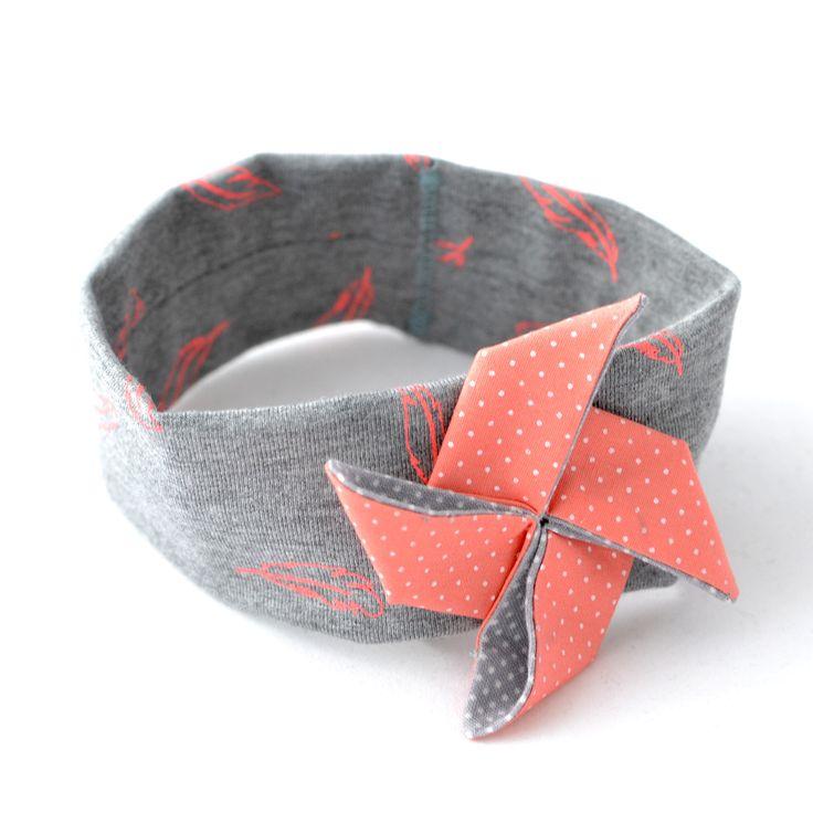Bandeau bébé corail origami : Mode Bébé par crealina-shop