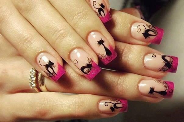 Mi Mundo Español Por Rita Condor: Nuevo modelo de uñas decoradas gatito