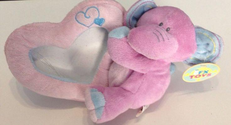 Porta fotografie con elefante peluche idea regalo