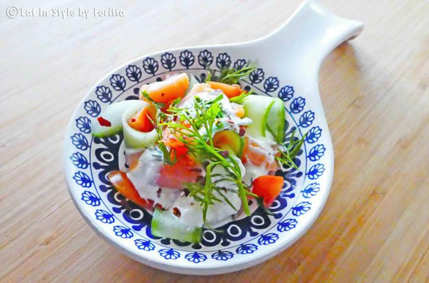 Super Simple Smoked Salmon Salad - a beautiful and easy dish to create.