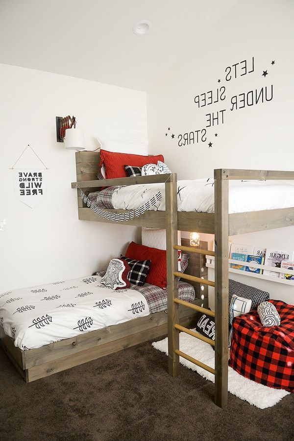 94 Minimalist Bunk Beds Design Ideas Tips For Designing The Space Bedroom Trends Cool Kids Bedrooms Bunk Bed Designs
