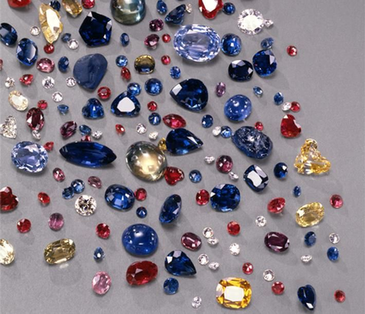 Rainbow of gem colors