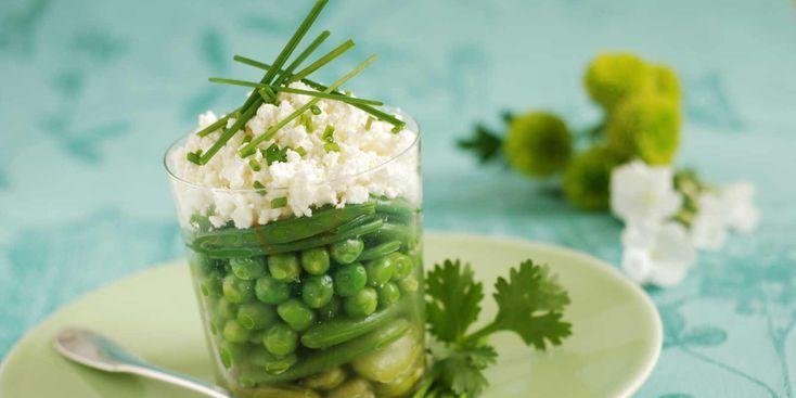 Verrine de légumes de printemps