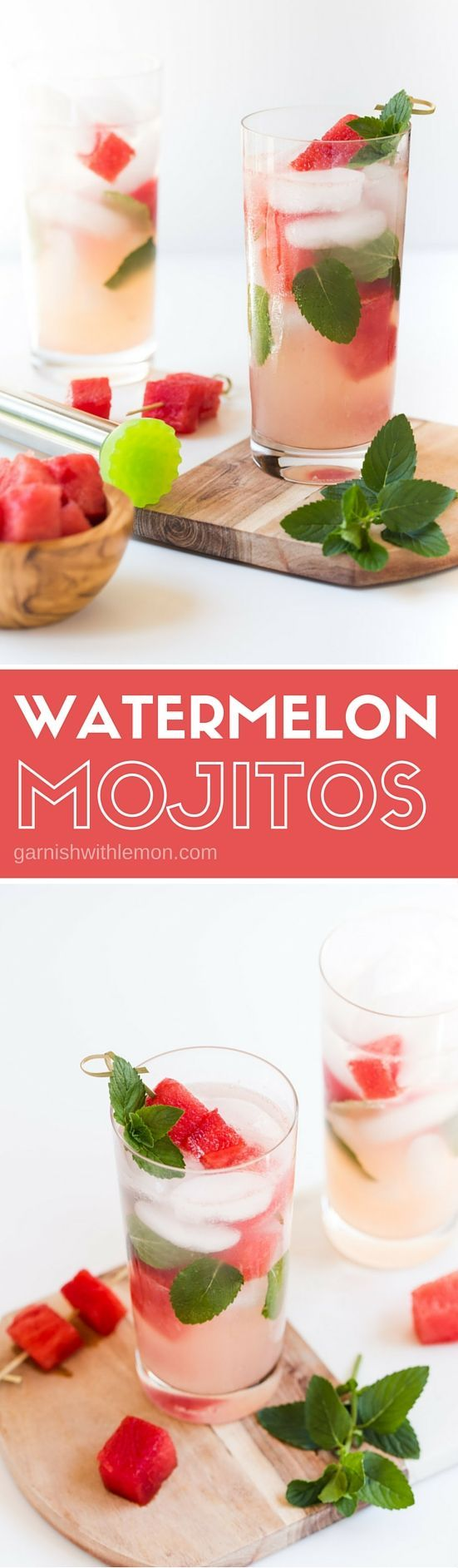 Juicy watermelon adds a refreshing twist to this quick and easy Watermelon Mojito recipe - an easy way to beat the summer heat!