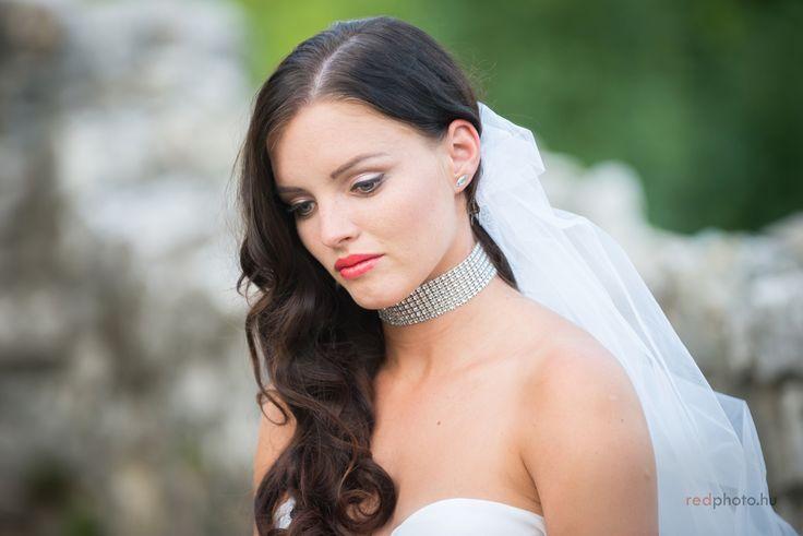 Esküvői smink fátyollal