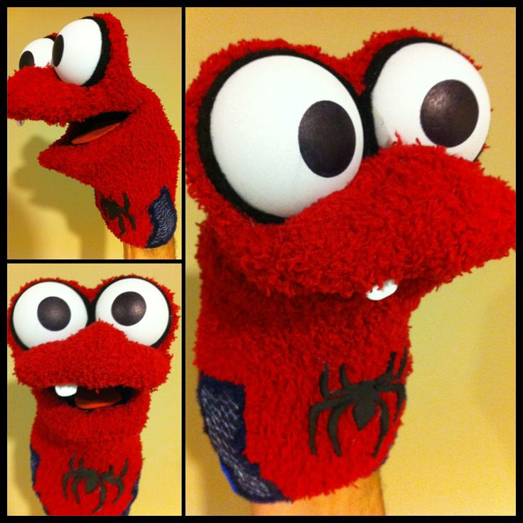 Spiderman Sock Puppet and more