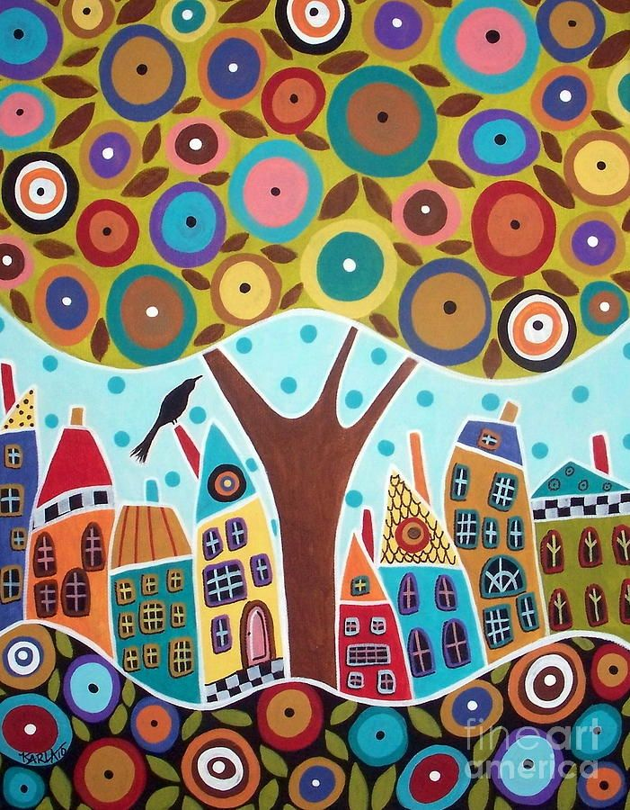 Karla Gerard, Tree Eight Houses And A Bird