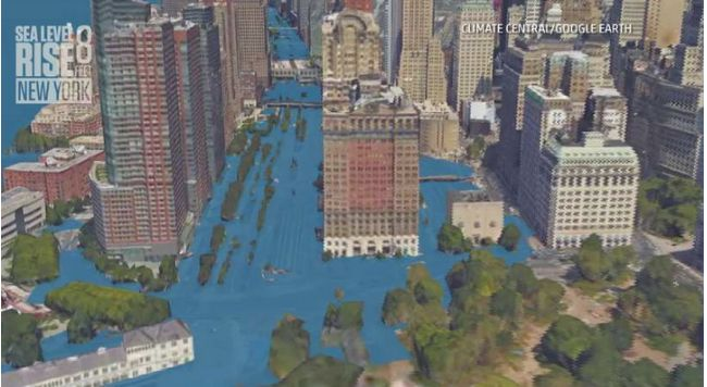 Rising Sea Threat in New York City – via Weather Underground