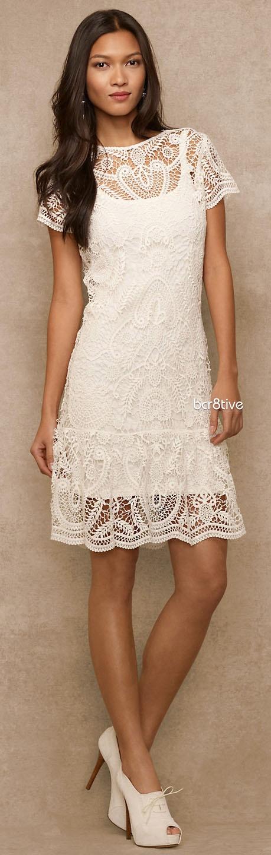 Ralph Lauren Blue Label #Crocheted Dress