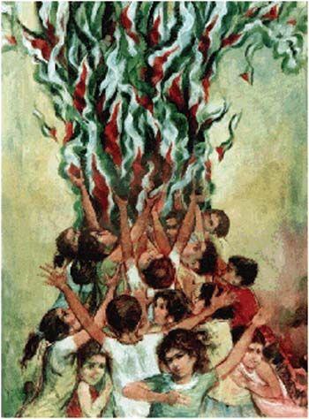 Ismail Shammout, Palestine, 'Roots'1993.