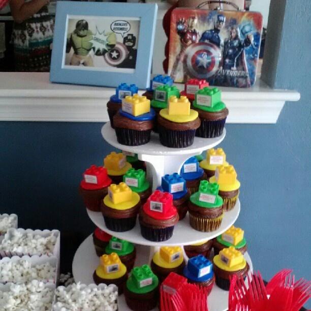 Lego Avengers Cupcakes Cupcakes Avenger Cupcakes