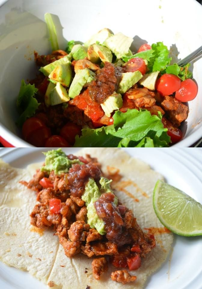 Turkey taco salad and turkey tacos! #cincodemayo #cleaneating #glutenfree