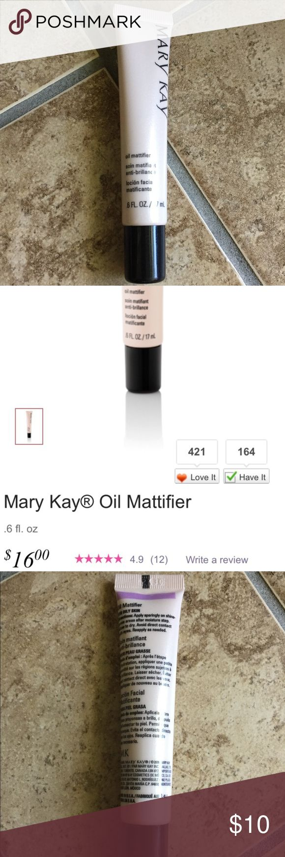 🆕 NWOT Mary Kay oil mattifier/primer Beauty blogger favorite primer and oil mattifier! Keeps makeup in place. Near perfect reviews online. Never used. Mary Kay Makeup Face Primer