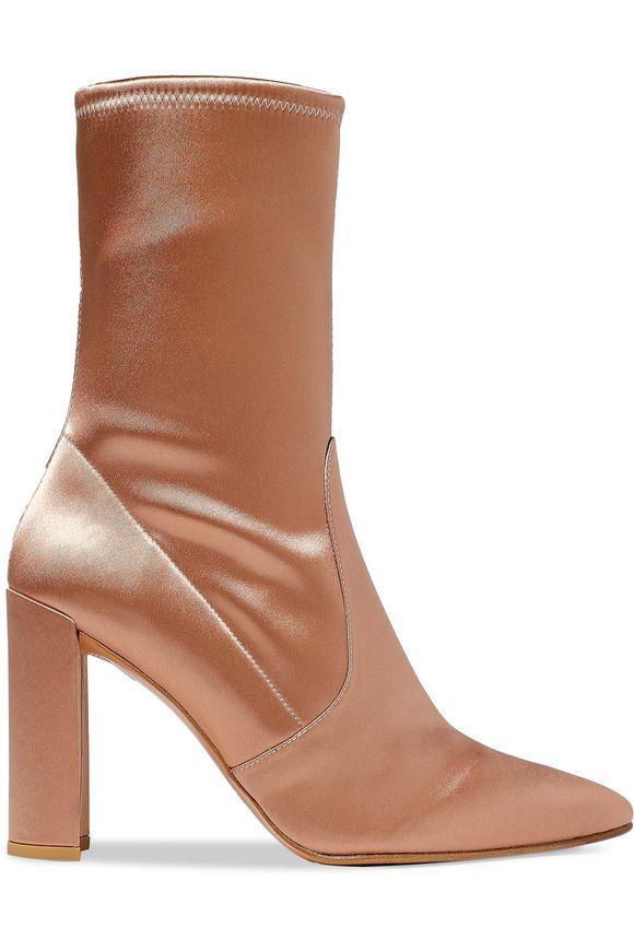 dcbce7b4ef7 Clinger satin ankle boots