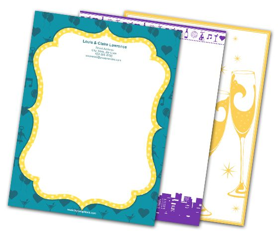Download this Time to Celebrate Letterheads and other free printables from MyScrapNook.com