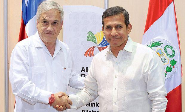 10.02.14: Piñera y Humala abordan diferencias por triángulo terrestre | Política | LA TERCERA