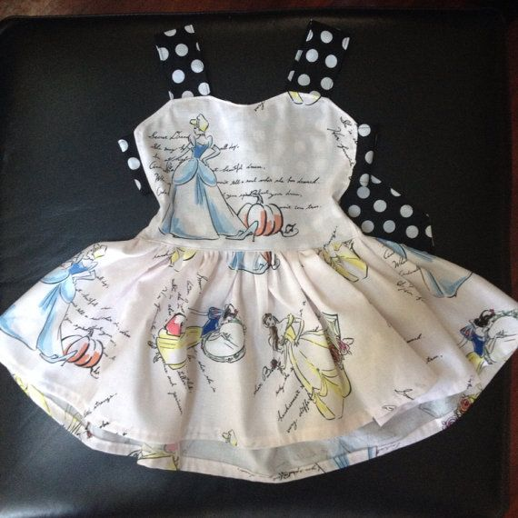 Baby/toddler disney fashionable princess print twirly dress newborn to 5t available on Etsy, $37.00