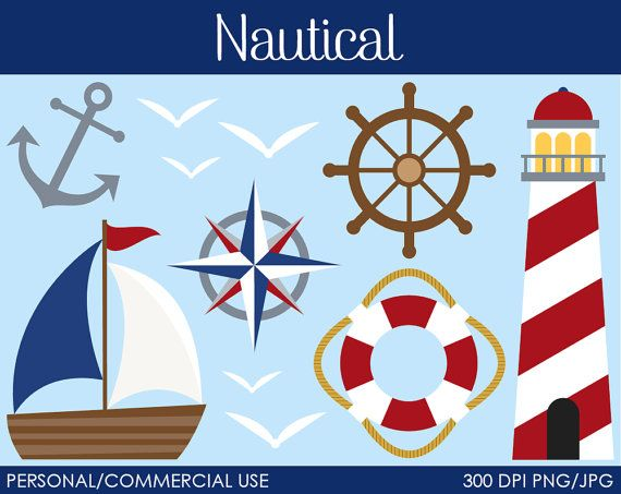 Nautical Clipart Digital Clip Art Graphics for by MareeTruelove