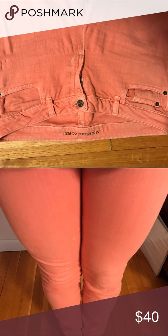 Michael Kors soft peach jeans Like new light peach Michael Kors jeans size 6 Michael Kors Jeans Straight Leg