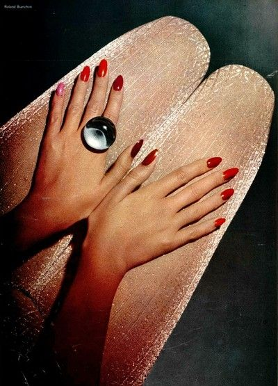 By Roland Bianchini for L'Officiel, 1972. Love the disco ring too. See more disco party fashion at sparklerparties.com/studio-54