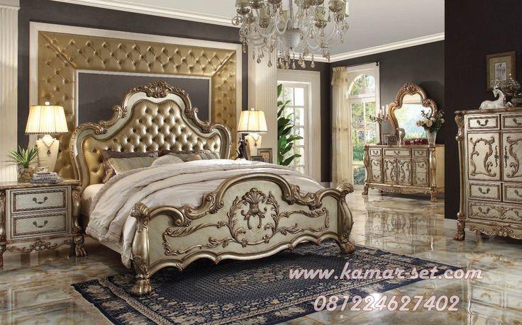 Set Tempat Tidur Utama Mewah KSU-112 Desain Klasik Ukir Furniture Kamar tidur merupakan vital dalam rumah anda. kerana kita lebih senang berada dalam kamar ketimbang di dalam ruang keluarga , ruang dapur maupun ruang tamu.Menciptakan suasana yang nyaman dan elegan dalam kamar tidur utama adalah gampang-gampang susah.Namun hal yang terpenting adalah kita harus cerdik dalam …