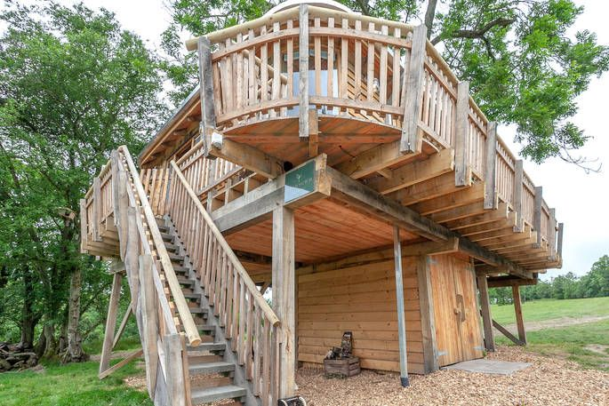 Trawscwm Treehouse At Squirrel S Nest In Powys Wales Tree House Canopy And Stars House Styles