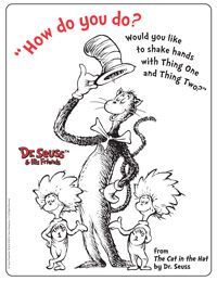 Dr Seuss S Tie Black And White Color Page