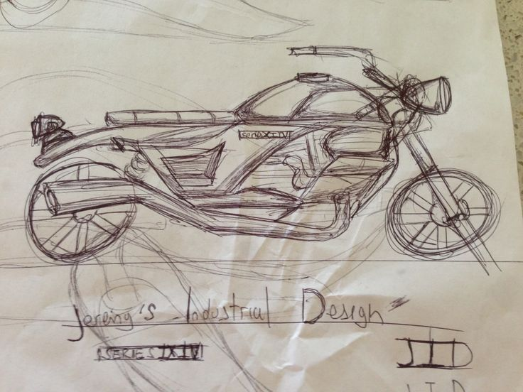 Ramdon sketch of a motorbike
