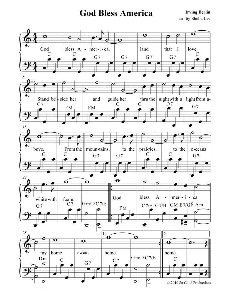 god bless america sheet music free pdf - Google Search