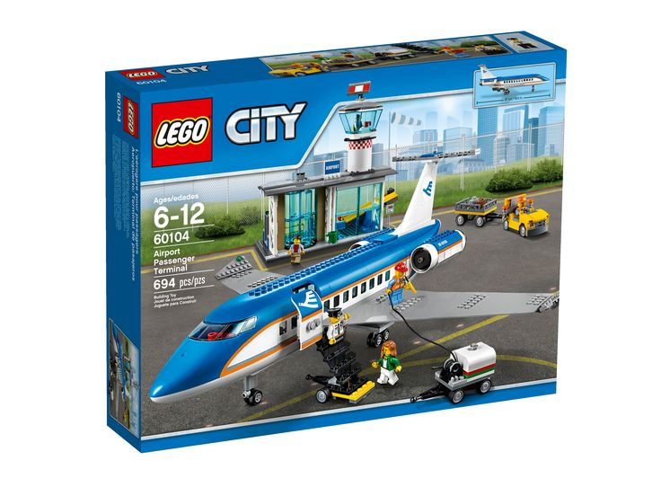 LEGO City Airport Passenger Terminal with Airport Facade #60104