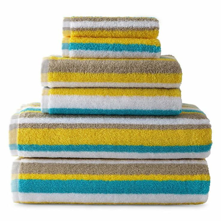 Jcpenney Decorative Bath Towels : Jcpenney home striped bath towels