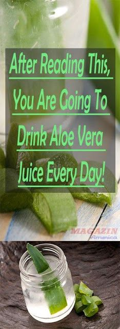 AFTER READING THIS, YOU ARE GOING TO DRINK ALOE VERA JUICE EVERY DAY!
