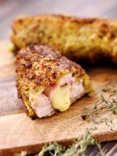 oeuf, pain de campagne, farine, huile de friture, escalope de dinde, jambon, persil, comté