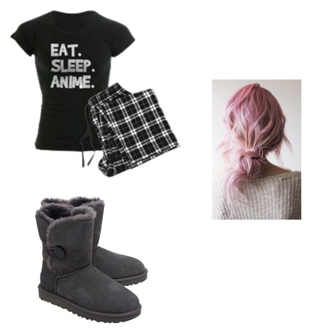 """""""pajama day at school"""" by evestarr on Polyvore featuring UGG"""