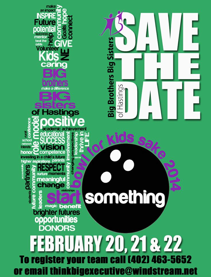Save the Date for BBBSH 2014 Bowl For Kids Sake!  February 20 - 22!