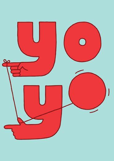 Yo Greeting Card by Jaco Haasbroek (Threadless) | Open Me