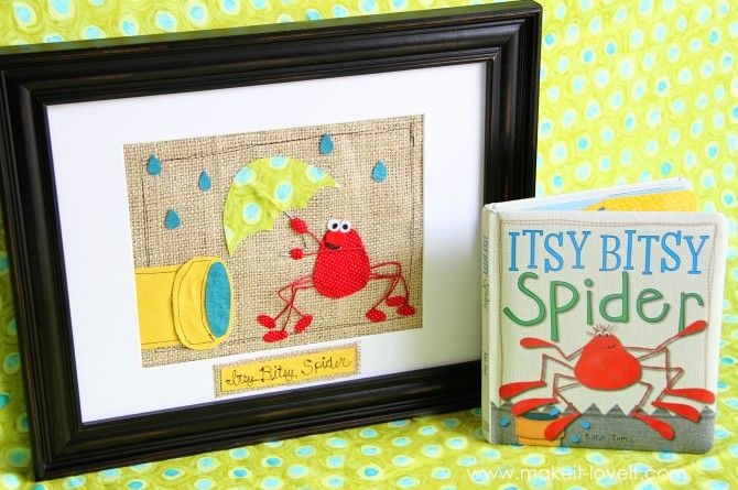 fun idea to frame a scene from a baby book