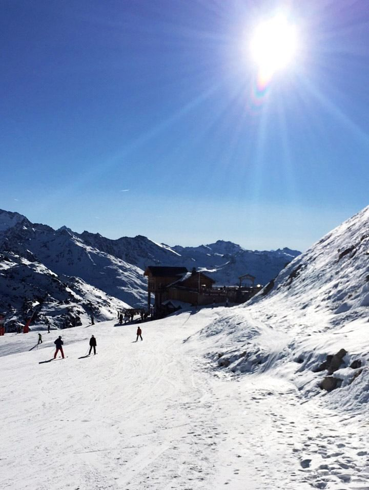 The views in Meribel are just picture perfect, look at the blue skies!