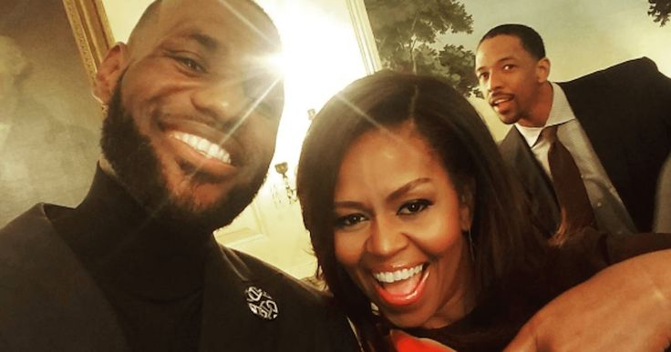 The Cleveland Cavaliers visited The White House yesterday where they were honored by President Obama for winning the NBA Finals in June. But way more importantly, they hung out with Michelle Obama and