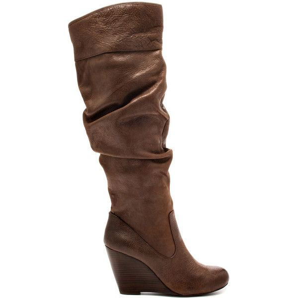 Jessica Simpson Women's Pasha - Brown Winter Haze ($100) ❤ liked on Polyvore featuring shoes, boots, heels, brown, wedges, over-the-knee boots, over the knee boots, brown leather over the knee boots, thigh high boots and brown over-the-knee boots
