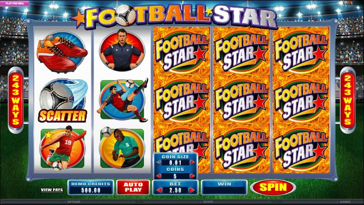 Microgaming has just released the Football Star slot, which is just in time for the World Cup. This slot offers players a variety of exciting features, including Stacked Wilds and Striking Wilds, among others.