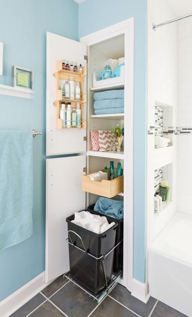 Bathroom Storage Ideas best 25+ bathroom closet ideas on pinterest | bathroom closet